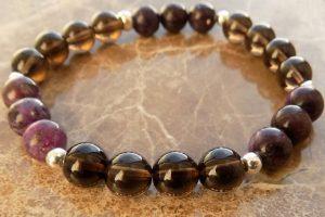 Stressbusting, negative energy/EMF protection root chakra bracelet