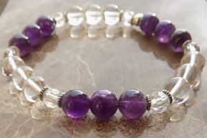 April birthstones clean 'Angel' quartz crown chakra