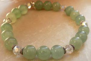 August birthstones Green Aventurine heart chakra
