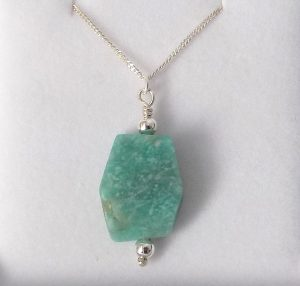 Amazonite healing crystal pendant